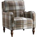 Sauder 420076 Accent Chair, 29.134 L X 33.071 W X 33.858 H, Plaid