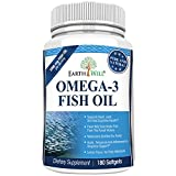 Earthwell Omega 3 Fish Oil Supplement Lemon Flavored - 180 Capsules