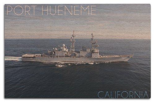 Port Hueneme, California - USS Paul F. Foster - Photograph (12x18 Wood Wall Sign, Wall Decor Ready to Hang)
