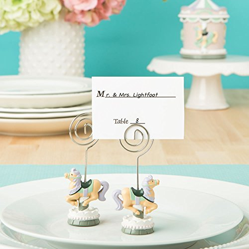SALE - FASHIONCRAFT Carousel Horse placecard or Photo Holder from Solefavors]()