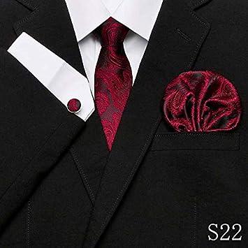 LUHELDM Corbata de Seda roja de la Tela Escocesa Jacquard de los ...
