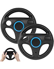 2Pack Mario Kart Wii Steering Wheels, TechKen Mario Kart Racing Wheel for Nintendo Wii, Mario Kart, Tank, More Wii or Wii U Racing Games