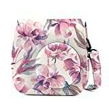Fujifilm Instax Mini 9 Case, Phetium Soft PU Leather Protective Case with Shoulder Strap and Pocket for Fujifilm Instax Mini 8 8+/Mini 9 Instant Camera (Flower)