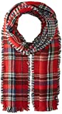 Tommy Hilfiger Men's Reversible Houndstooth Tartan Scarf, Red Multi, One Size