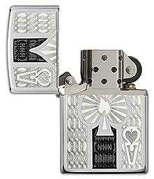Zippo High Polish Chrome Spade Pocket Lighter