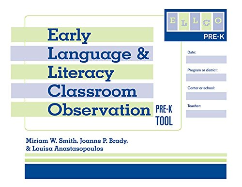 (Early Language and Literacy Classroom Observation Tool, Pre-K (ELLCO Pre-K) (Pack of 5))