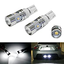 iJDMTOY Super Bright 2835-Chipset 168 2825 912 920 921 LED Bulbs For Backup Reverse Lights or Parking Position Lights, Xenon White