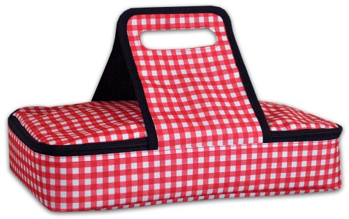DII Checker Insulated Casserole Carrier, 10x16x3