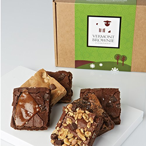 Gourmet Brownie Gift Box Sampler - 12 Brownies