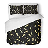 Emvency Bedding Duvet Cover Set Queen (1 Duvet Cover + 2 Pillowcase) Shoe Dance Steps Swing Footprint Diagram Foot Mambo Floor Tango Hotel Quality Wrinkle and Stain Resistant