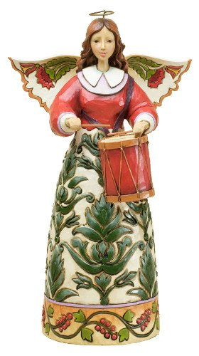 Jim Shore Williamsburg Christmas Angel - Keep A Merry Beat (Colonial Shore Jim)