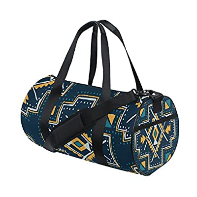 50%OFF Gym Bag Mexican Pattern Vintage Sports Travel Duffel Lightweight Canvas  Bag 6bbb178aa3