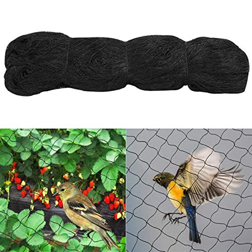 Yaheetech Anti Bird Netting - 50ft X 50ft Garden Nets for Plant Trees/Fruit/Vegetable/Poultry/Aviary/Game/Pens 2.4-inch Square Mesh Black 1