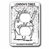 Londons Times Funny Society Cartoons - Lesser Of Two Weevils - Light Switch Covers - 2 plug outlet cover (lsp_1791_6)