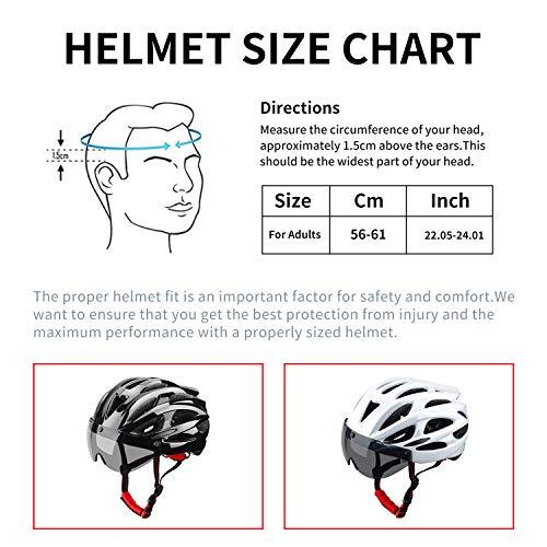 XinerTer Bike Helmet,Mountain Bike Helmets with Detachable Magnetic Goggles,Adjustable Size Road Helmets for Women and Men.CPSC//CE Certified Bicycle Helmets