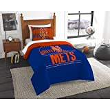The Northwest Co mpany MLB New York Mets Grandslam Orange, Blue, and White Twin 2-piece Comforter Set