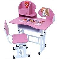 Mesa e Cadeira Infantil com Regulagem de Altura Smart Rosa - Facthus