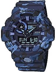 Casio GA700CM-2A G-Shock Mens Watch Blue Camo 53.4mm Resin