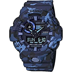 51LiG5Xi7GL. SS300  - Casio G-Shock GA700CM Series Camo Wrist Watch (Men's)