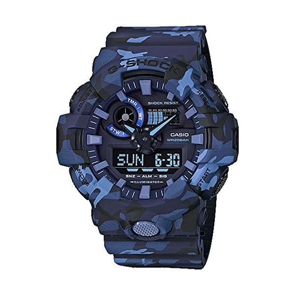51LiG5Xi7GL. SS600  - Casio G-Shock GA700CM Series Camo Wrist Watch (Men's)