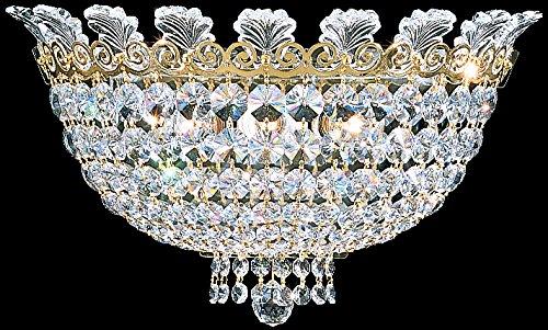 Schonbek 3708-48S Swarovski Lighting Roman Empire Wall Sconce, Antique Silver
