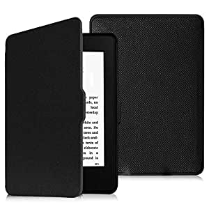 Fintie Slimshell Case for Kindle Paperwhite - The Thinnest and Lightest PU Leather Cover with Auto Sleep/Wake for all-new Amazon Kindle Paperwhite (Fits all 2012, 2013, 2015 and 2016 Versions), black - EKD0021AD-US
