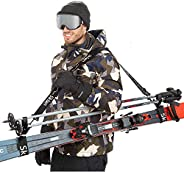 Sklon Ski Strap and Pole Carrier | Avoid The Struggle and Effortlessly Transport Your Ski Gear Everywhere You