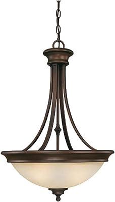 Burnished Bronze Belmont 3 Light Full Sized Bowl Shaped Pendant