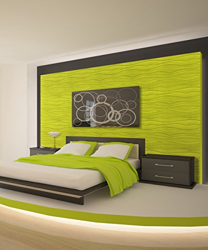 Easy Peel And Stick, Durable Plastic 3D Wall Panel - GAPLESS TWIG Design. 12 Panels. 32 SF