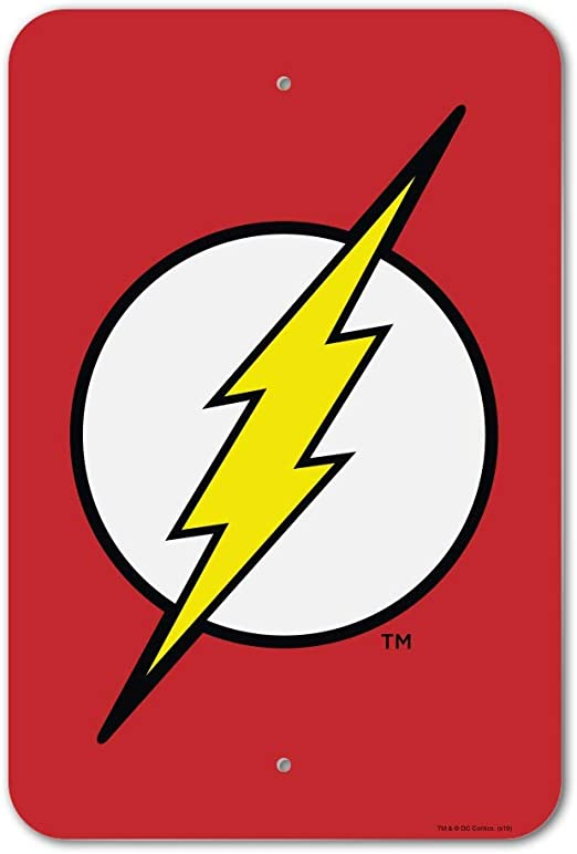 Amazon Com Graphics More The Flash Lightning Bolt Logo Home Business Office Sign Home Kitchen