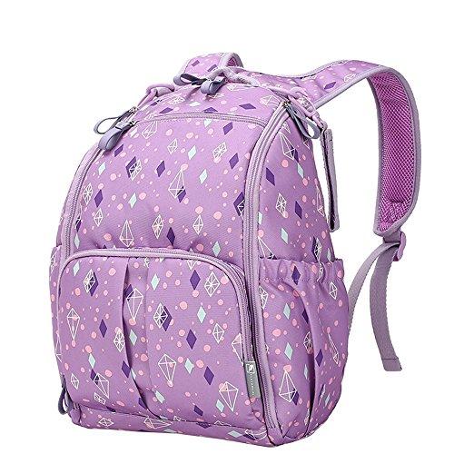 Hombro bolsa de la madre multi-funcional de gran capacidad de la mochila de la madre impermeable a salir mujeres embarazadas a ser madre en el paquete de ley ( Color : Purple ) Luz Violeta