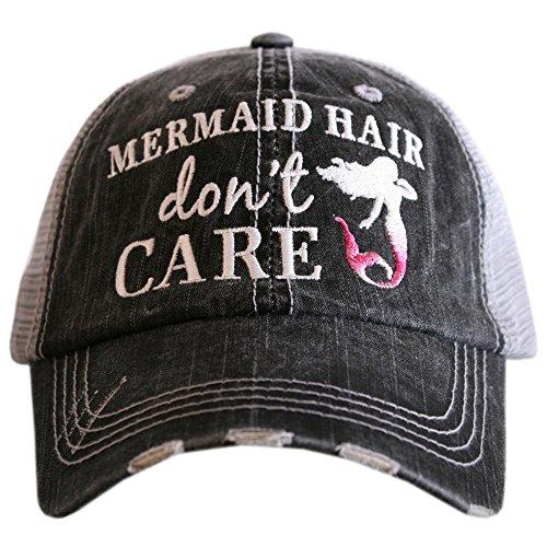 Katydid Mermaid Hair Don't Care Baseball Hats Caps]()