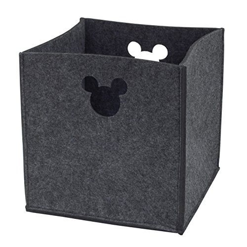 Disney Felt Die Cut Storage Bin, Grey, Mickey Mouse