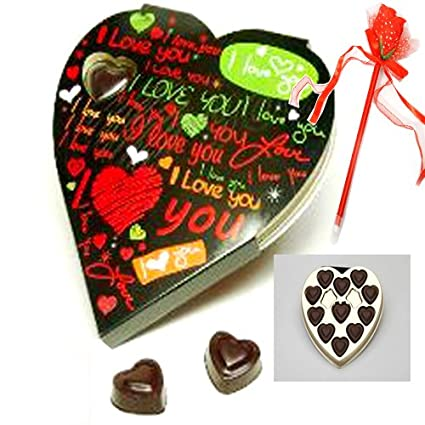Ghasitaram Gifts Valentine Gifts Heart Chocolate Box 110gm Amazon