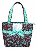 Lady Jayne Ltd. Insulated Lunch Tote, Chocolate Toile Design