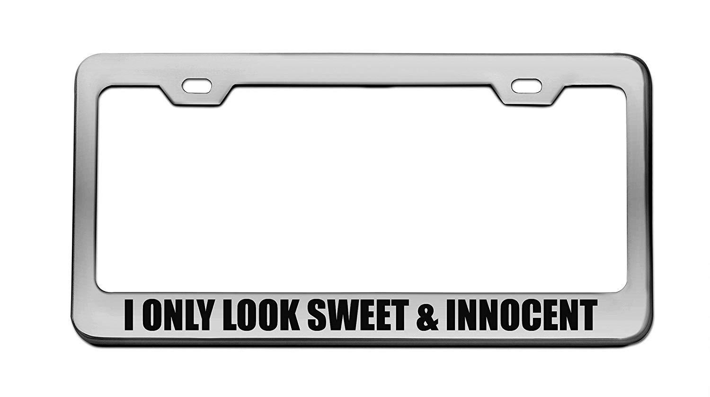 Aluminum Metal License Plate Frame Tag Holder 2 Hole Screws Chrome License Plate Frame