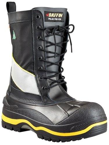 Baffin Men's Constructor Work Boot,Black/Hi/Viz,10 M -