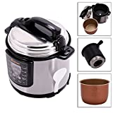 6-Quart Electric Non-stick Pressure Cooker Cookware Stainless...