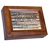 Cottage Garden The Ten Commandments Woodgrain Digital Keepsake Music Box Plays I Can Only Imagine