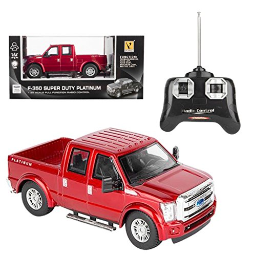 RC Ford F-350 Super Duty Pick Up Truck, Full Function R/C Radio Remote Control Car 1:28 Scale