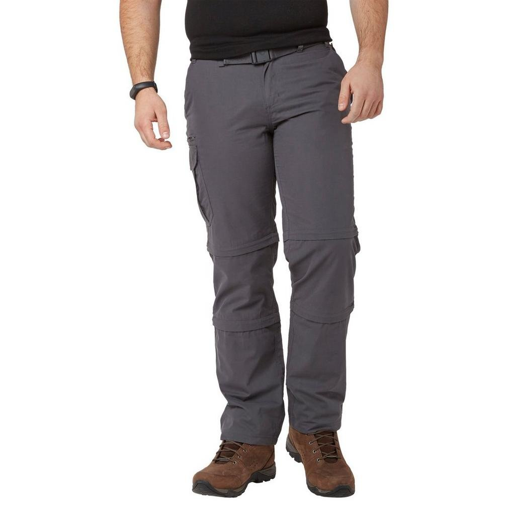 Brasher Grau  Herren Double Zip-Off Hose Outdoor Bekleidung Grau, Grau, 97cm