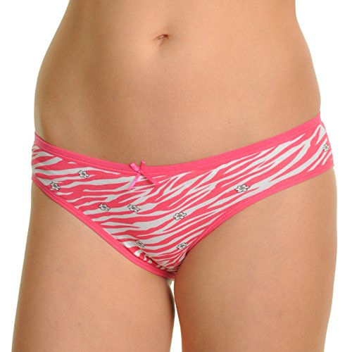 Angelina 12-Pack Cotton Zebra Print All-Lace Back Bikini ...