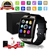Smart Watch Bluetooth Smartwatch with Camera TouchScreen SIM Card Slot, Waterproof Phones Unlocked Smart Wrist Watch Sports Tracker for iPhone IOS Android Kids Men Women (Black)