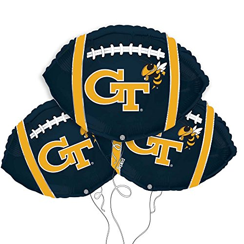 Georgia Tech College Football Mylar Balloon 3 - Football Balloon Mylar