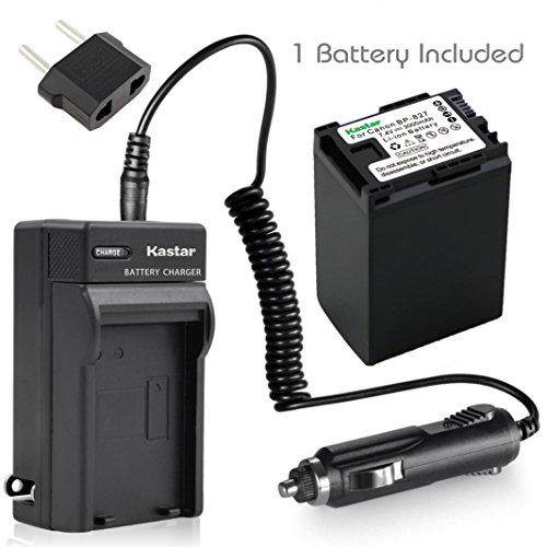 Kastar BP-827 Battery 1X + Charger for Canon VIXIA HF10 HF11 HF20 HF21 HF100 HF200 HF G10 HF M30 M31 M32 HF M40 HF M41 HF M300 HF M400 HF S10 HF S11 HF S20 HF S21 S30 S100 S200 HG20 HG21 HG30 XA10 ()