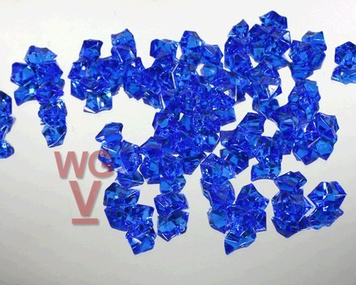 10 - 1 Pound bags of Acrylice Ice Rocks Vase Fillers Table Scatter (Royal Blue) by WGV International