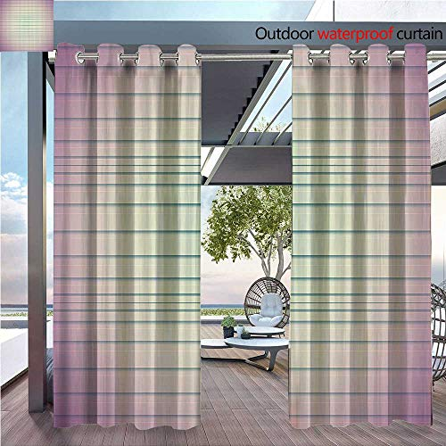 DESPKON Active Printing Fabric Polyester Material eNostalgic Inspired Soft Ted Horiztal Bands Stripes Bathroom for Outdoor Wedding W96 x L108 INCH