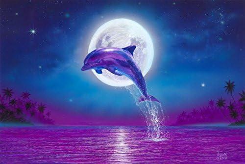 Amazon.com: Dolphin Art Print, Dolphins Art, Dolphin Wall Decor, Art Print  Beach Wall Decor, Dolphin Art, Dolphin Poster, Dolphins Art Print,  Moonlight (12x18): Posters & Prints