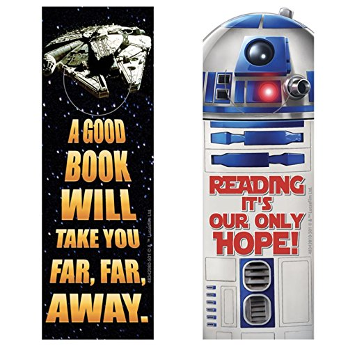 3 Dozen (36) STAR WARS Bookmarks R2D2 Millennium Falcon - Classroom TEACHER Reading Rewards - PARTY Favors MOTIVATION