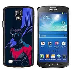 """Be-Star Único Patrón Plástico Duro Fundas Cover Cubre Hard Case Cover Para Samsung i9295 Galaxy S4 Active / i537 (NOT S4) ( Superhero Villano púrpura Arte Negro"""" )"""